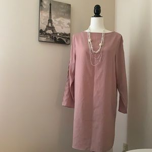 H&M | Dusty rose over the knee dress